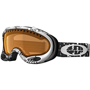 Oakley A-Frame Snow Goggle, Tagline Black with Persimmon Lens