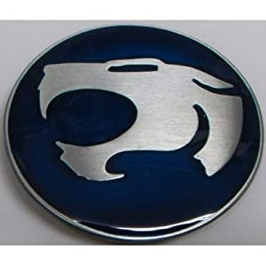 Blue Thundercat on Blue Thundercats Logo Belt Buckle New Metal