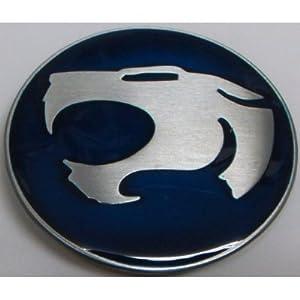 Blue Thundercat on Blue Thundercats Logo Belt Buckle New Metal