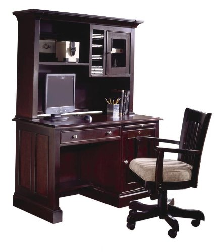 Buy Low Price Comfortable Riverside Furniture 69152 / 69153 Urban Crossings 50″ W Computer Desk with Hutch in Espresso (B001OKTMD6)