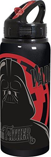 Star Wars 01431-Borraccia da 600 ml, colore: nero/rosso