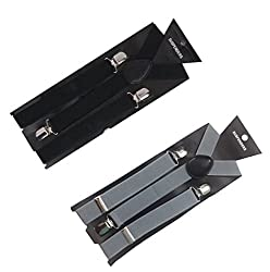 Atyourdoor Y- Back Suspenders for Men(BlackGreysus2)