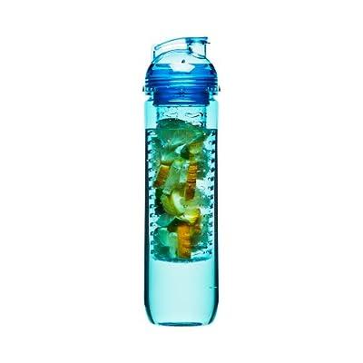 Sagaform 5016673 fresh Flasche mit Fruchteinsatz, blau