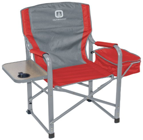 Outbound Chill Out Chair with Side Table, Large, Red
