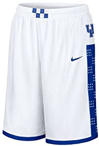 """Nike Kentucky Wildcats White 12"""" Inseam Embroidered Player Basketball Shorts"""