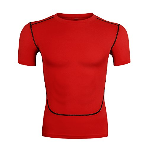 Champion Men's Quick Dry Short Sleeves Athletic Sport Training Muscle T-Shirts