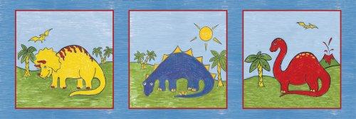 "Art 4 Kids ""My First Dinosaurs"" Mounted Art Print, 36""X12"" front-938725"