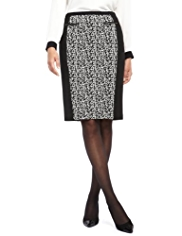 M&S Collection Textured Jacquard Print Skirt