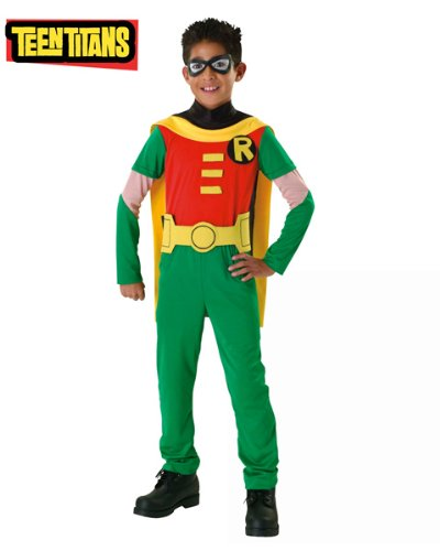 Rubies Costume Co R882126-L Teen Titan Robin Child Size Large