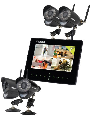 Buy Cheap Lorex LW2734B LIVE Wireless Video Monitoring System (Four Cameras - Black)