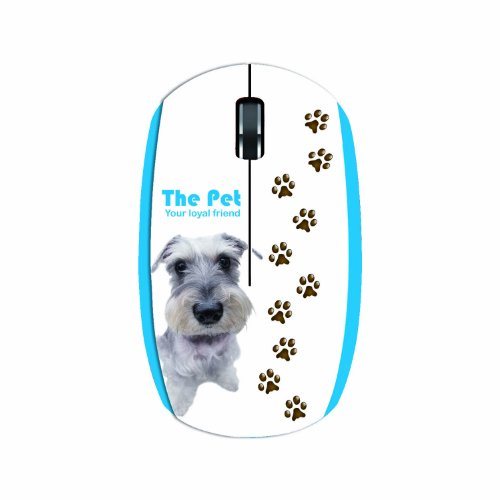 Lexma Wireless Bluetrace Mouse, Miniature Schnauzer (M711R-Ms)