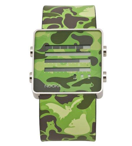 Nooka Unisex ZENH-CAMO-GR ZenH Camouflage Green Aluminum Watch