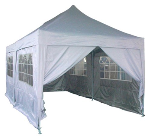 Quictent 3x6 Meter Silver Pop Up Gazebo Canopy Silver-coated Waterproof With Sidewalls and Bag