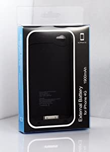 Ultra slim External Rechargeable Backup Battery Charger Case Cover For iPhone 4 4S 4G