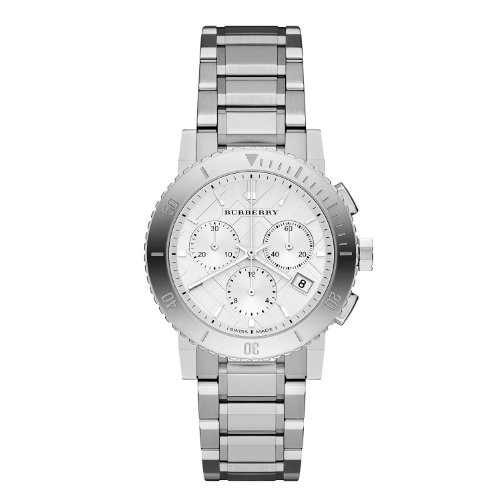 Burberry BU9700 Watch City Ladies - Silver Dial Stainless Steel Case Analog Movement