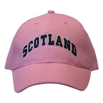 womens scotland embroidered block design baseball