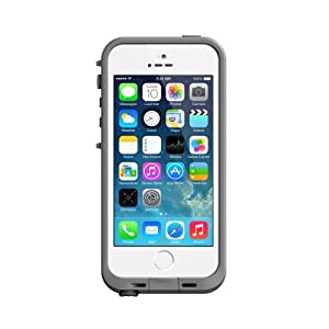 Lifeproof iPhone 5S Fre Case-White/Gray - Carrying Case - Retail Packaging - White/Gray