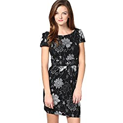 Cozer Creation Floral Printed western wear Black And White Skirt Dress Material