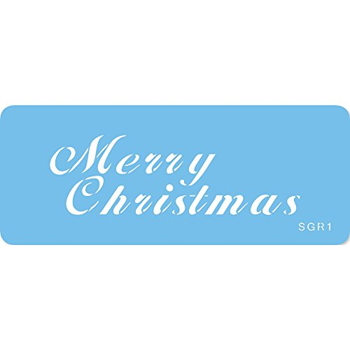 JEM MERRY CHRISTMAS Cake Decorating Stencil Sugarcraft Decoration Baking