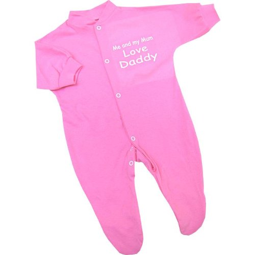 Me and my Mum Love Daddy baby Sleepsuit Babygro Newborn,0-3,3-6,6-9,9-12 months