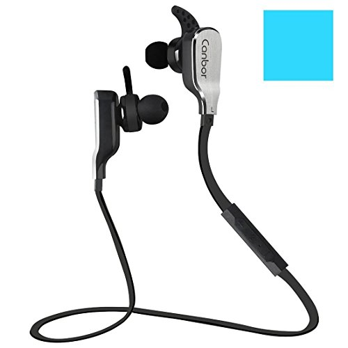 bluetooth headphones wireless earbuds noise cancelling sport earphones canbor stereo sweatproof. Black Bedroom Furniture Sets. Home Design Ideas