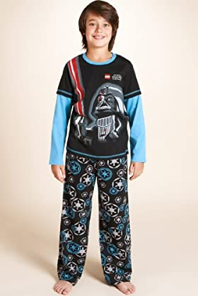 Older Boys' Pure Cotton Lego® Star Wars™ Vader Pyjamas