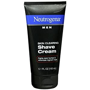 Neutrogena Men Skin Clearing Shave Cream, 5.1 Ounce (Pack of 2)