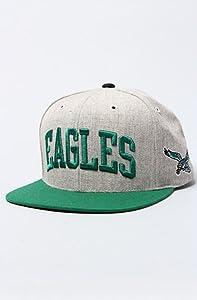 Mitchell & Ness Philadelphia Eagles Basic Arch Grey 2t Snapback Hat by Mitchell & Ness