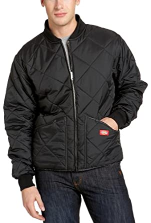 Dickies Diamond Quilted Nylon Jacket - BLACK - M [Apparel]