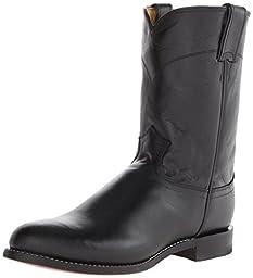 Justin Boots Men\'s Western Roper Boot,Black Kipskin,11.5 E US