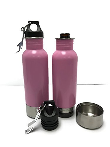 Craft Connections Stainless Steel Bottle Insulator with Opener - Pack of 2 (Pink-Pink) (Redds Apple Ale Bottle Opener compare prices)