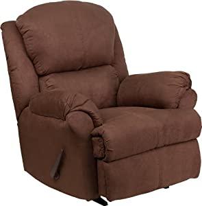 Flash Furniture AM-4959-8019-GG Contemporary Beijing Microfiber Rocker Recliner, Chocolate Brown
