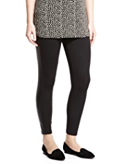 Plus Faux Leather Panel Leggings