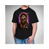 Star Wars Men's Chewie Shades T-Shirt, Black, Large