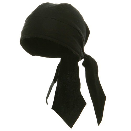 Deluxe Series Head Wraps- Solid Black W12S15F
