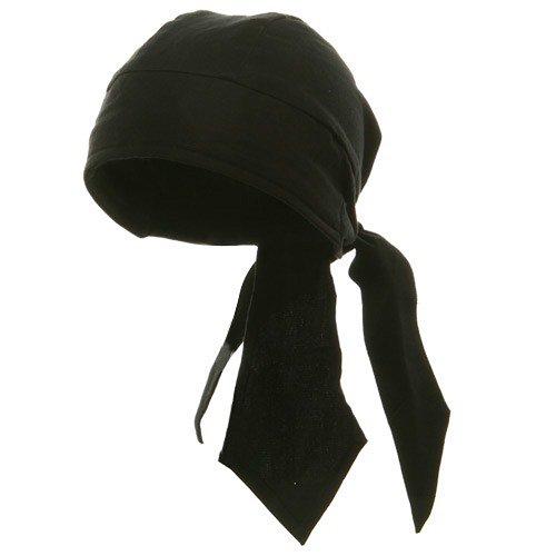 Deluxe Series Head Wraps- Solid Black W12S15F