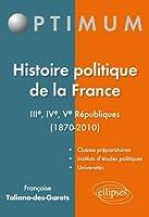 Histoire Politique de la France IIIème-IVème-Vème Républiques 1870-2010