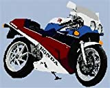 Stitchtastic Honda VFR400 NC30 Motorbike Counted Cross Stitch Kit 14 count aida