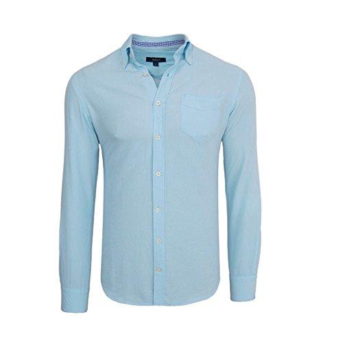 Gant-Camicia da uomo-a maniche lunghe-Oxford-Slim Fit-azzurro Hellblau S