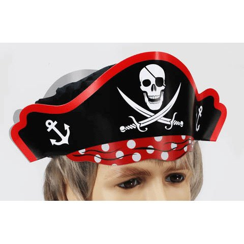 Pirate Hat w/Top (Paper)