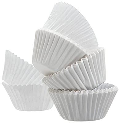 White Standard Size Cupcake Paper Baking Cup Liners- 2'' x 1-1/4=4.5 - appx.500