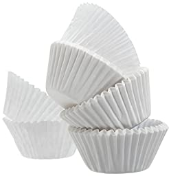 A World of Deals Best Quality Small Size White Cupcake Paper - Baking Cup - 4 Packs SMALL Cup Liners 500 Pcs