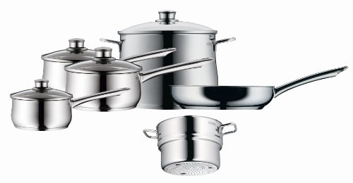 WMF Diadem Plus Cookware Set, 18/10 Stainless Steel, 6 Piece
