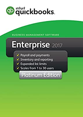 QuickBooks Desktop Enterprise 2017 Platinum Edition Business Accounting Software 1-User [PC Download]