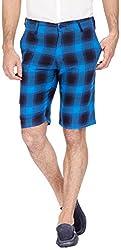 Urbantouch Men's Cotton Shorts(4591, Blue, 38)