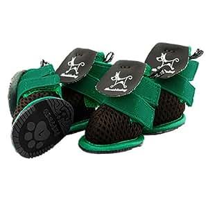 Amazon.com : Zapatos para perros mascotas transpirable velcro Botines