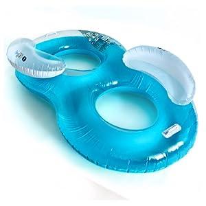 Colchoneta hinchable de vinilo dos personas m x 160kg para piscina o playa - Colchonetas para piscina ...
