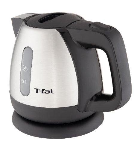 T-Fal Bi802551 Brushed Stainless Steel 0.8-Liter 1450-Watt Mini Electric Kettle, Silver
