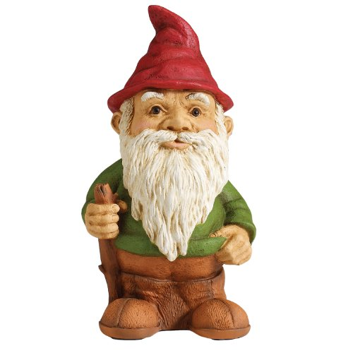 Gnome In Garden: NEW Outdoor Standing Garden Yard Lawn Gnome Elf Statue