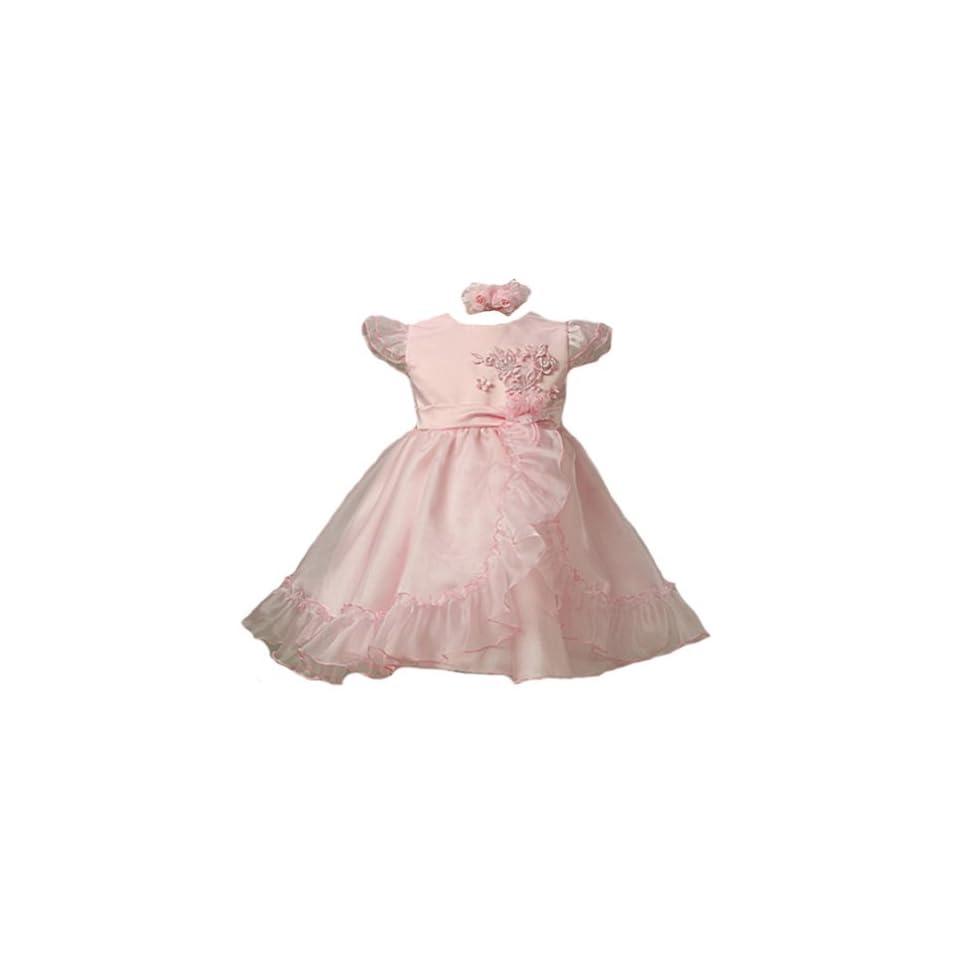 KID Collection Baby Girls Gorgeous Dress & Headband 24M Pink (kid B747)